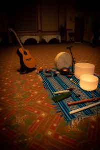 Musical instruments on the floor