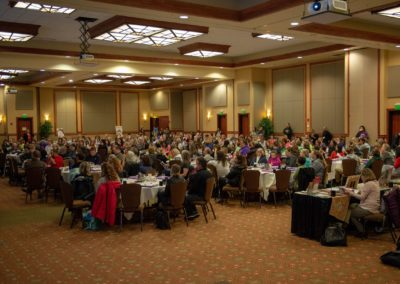 Room full of people at the wellness conference