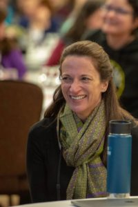 Person sitting with their Klean Kanteen at the wellness conference