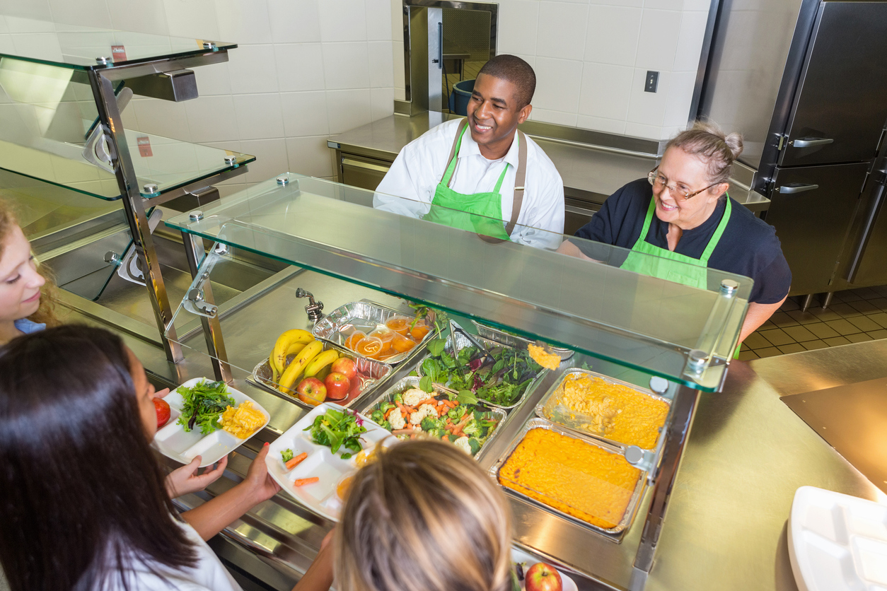Serving healthy food to students