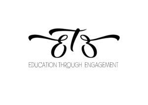 Black and White Education Through Engagement Logo