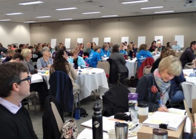 view of multiple people at the wellness conference