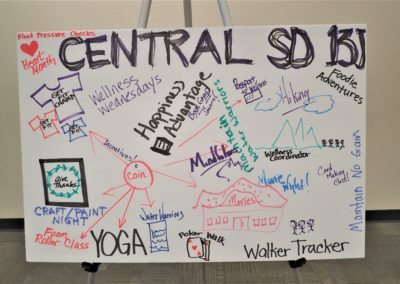Central SD wellness board at the wellness conference